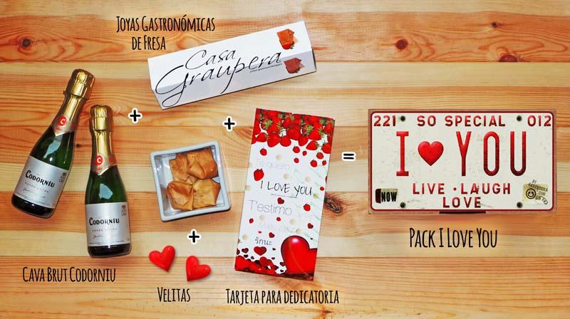 """Contenido del pack San Valentín """"I Love You"""" - Gastroidea.com"""