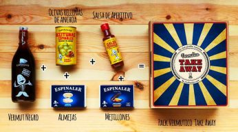Pack Vermutico Take Away, vermut del domingo, picoteo - Regalos originales gourmet Gastroidea.com