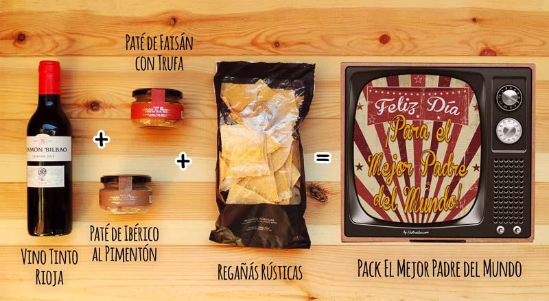 Contenido del pack El Mejor Padre del Mundo – Gastroidea.com
