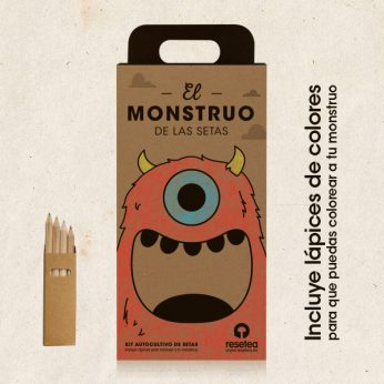 Pack kit de autocultivo de Setas, el monstruode las setas para niños y niñas, Regalos originales gourmet Gastroidea.com