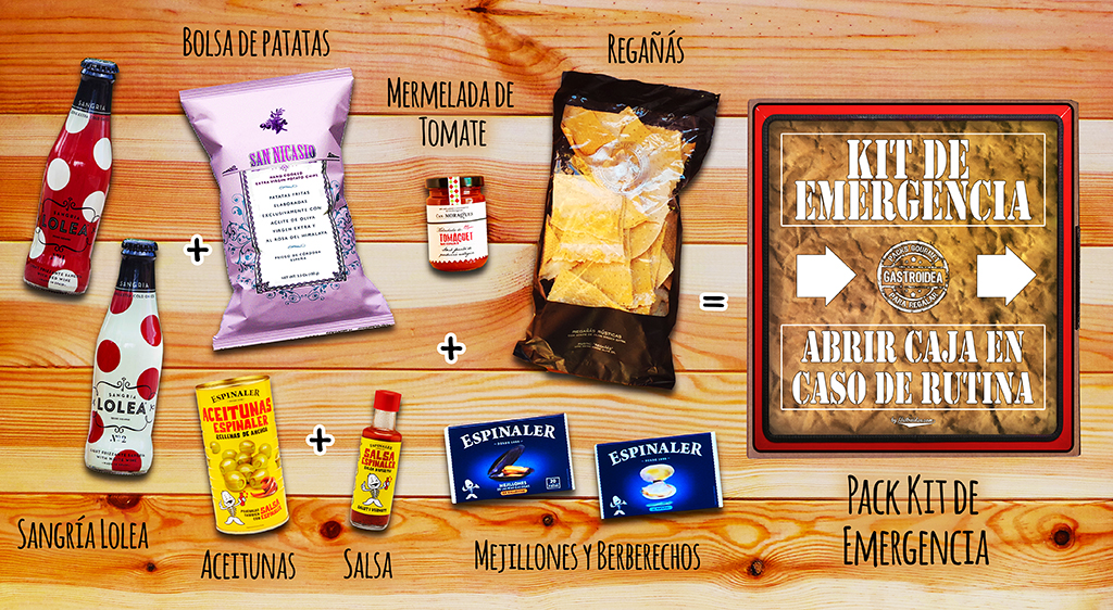 Kit de Emergencia Gourmet, gastroidea, regalos originales gourmet, vermut, gastroidea.com
